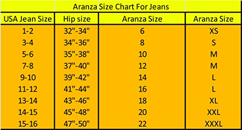 Aranza Women's Push Up Butt Lifting Stretch Skinny Jeans Levantacola Colombianos Size 14 COL 9/10 USA
