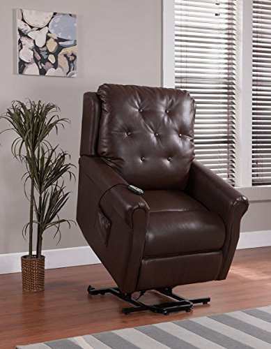 Gelston Brown Leather Club Chair B019ng4r0k