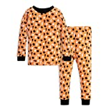 Burt's Bees Baby Unisex Baby Pajamas, Tee and Pant 2-Piece PJ Set, 100% Organic Cotton, Stamped Pumpkins, 7 Years