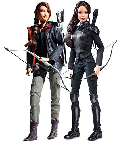 Barbie Collector Hunger Games Katniss Everdeen Bundle of Two Collectible Dolls: 2012 Hunger Games and 2015 Mockingjay 2 Edition