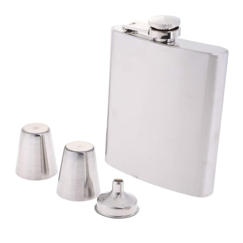 Whiskey Flasks Flask /& Funnel /& Wine Glass Gift Set Slim Metal Back Pocket Alcohol Drinking Flask 7oz Stainless Steel Hip Flask for Liquor for Men
