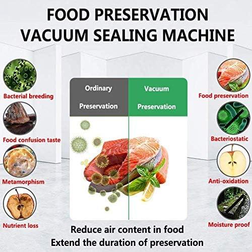 HIZLJJ Vacuümmachine, voedselvacuüm-luchtafdichtsysteem voor levensmiddelenredders, met ingebouwde cutter