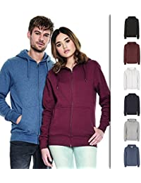 Zipper Hoodies for Men   Men's 100% Organic Cotton Zip Up Hooded Sweatshirt