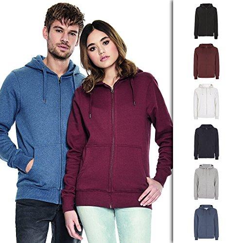 Melange White Zip Up Hoodie For Men | Lightweight Cotton Mens Jacket | Medium