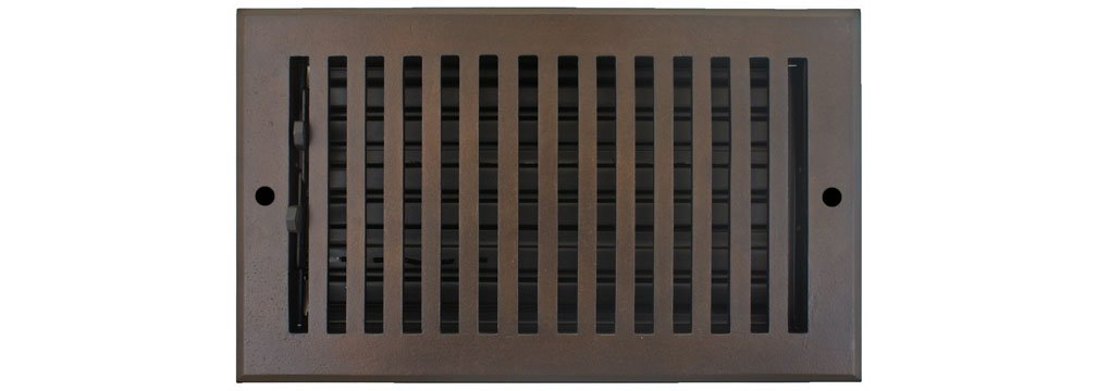Hamilton Sinkler WVF-408-BP Hamilton Sinkler Flat Wall Vent with Damper, 4 by 8-Inch, Bronze Patina