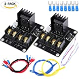 3D Printer Heat Bed Power Module, Allacers Add-on Hot Bed Power Expansion Board MOS Tube High Current Load Module for 3D Printer,Pack of 2