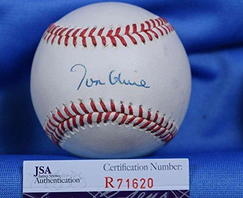 TOM GLAVINE JSA COA HAND SIGNeD NATIONAL LEAGUE AUTOGRAPH BASEBALL