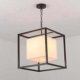 Cubo Diseño Luces colgantes negras Textiles Lámpara colgante ...