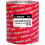 PSA DURANGO DVD-R RIDATA Virgen 16X 4.7GB 120MIN Ideal para Video, Audio, Data, Fotos, PELICULAS Y Juegos. 100 Piezas. DVDRIL