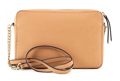 GUESS Devyn Crossbody Top Zip Caramel