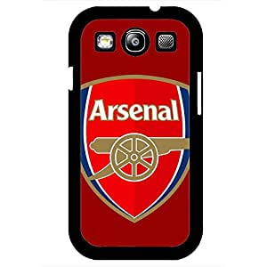 Samsung Galaxy S3 Case,Arsenal Football Club Logo Protective Phone Case Black Hard Plastic Case Cover For Samsung Galaxy S3