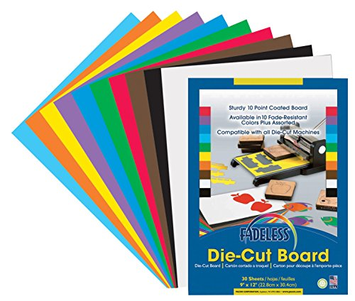 """Fadeless 0077555 Die-Cut Board, Assorted Color, 0.3"""" Height, 9"""" Width, 12"""" Length (Pack of 30)"""
