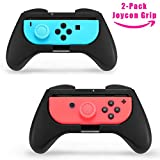 TPFOON Grips for Nintendo Switch Joy-Con Controller (2-Pack), 2pcs Thumbstick Caps Included