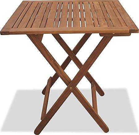 Tavoli Da Giardino In Acacia.Tavolo In Legno Da Giardino Quadrato 70x70 Color Acacia Amazon It Casa E Cucina