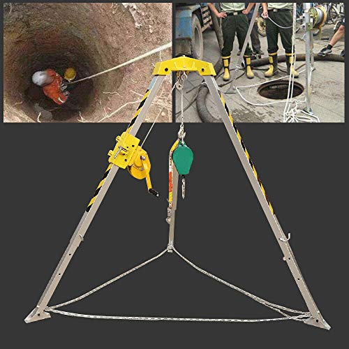 Confined Space Tripod Kit,Space Tripod Tool Kit Confined Personnel Winch Rated Load Fire Fighting Large Capacity Man Portable Well Rescue Non-Slip Usa from LOYALHEARTDY19