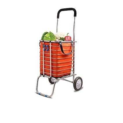 Carro de supermercado carro pequeño plegable, puede subir ...