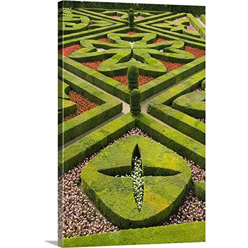(Gallery-Wrapped Canvas Entitled Elegant Gardens, Chateau Villandry, Loire Valley, France by Kevin Schafer 20