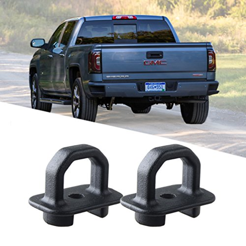 ROCCS Pair Tie Down Anchor Truck Bed Side Wall Anchors for 07-18 Chevy Silverdo/GMC Sierra,15-18 Chevy Colorado/GMC Canyon,Trucks Cargo