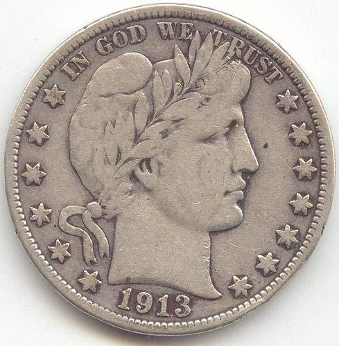 1913 Barber Half Dollar Fine