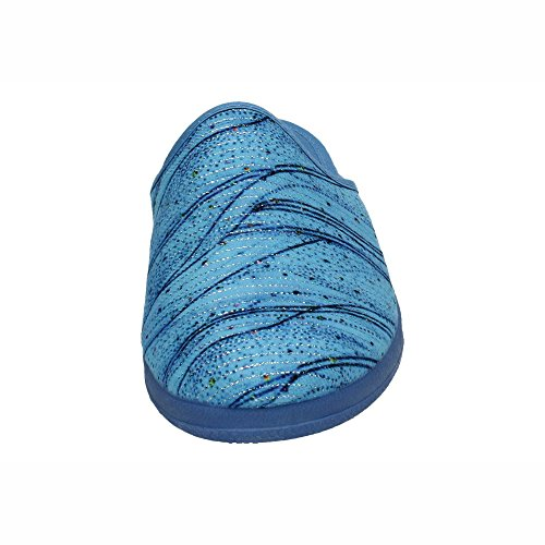 Femme Chaussons In Spain Bleu Made Pour 70Uw8AF7q