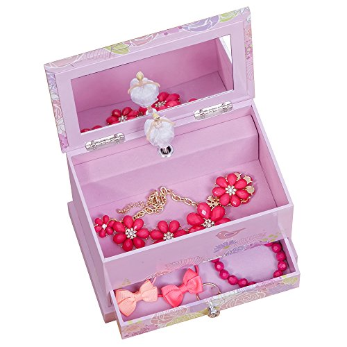 Mele & Co. Piper Girl's Musical Ballerina Jewelry Box (Bird & Blooms Design) by Mele & Co. (Image #2)