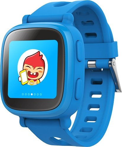Oaxis Children Smart Watch Phone for Kids , First 3G SIM Card Supported Child Smartwatch with GPS Tracker Fitness Anti-lost SOS Finder Geo Fencing Touch Screen (Blue) ()