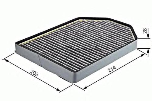 BOSCH Activated Carbon Cabin Air Filter 2pcs Fits AUDI A8 1994-02 4D0 819 439 A