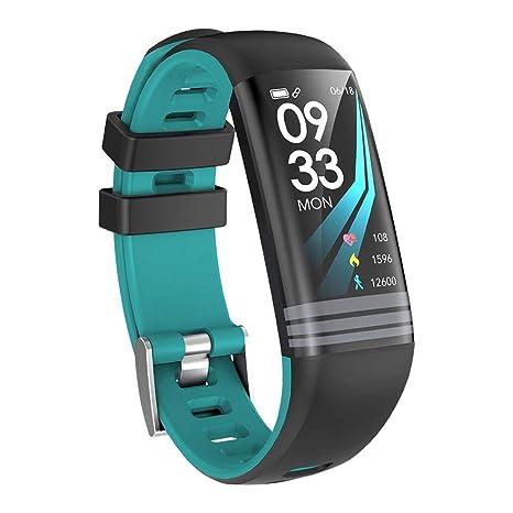 wangwtry Bluetooth Smart Pulsera Fitness Tracker de la Pantalla Tensiómetro de frecuencia cardíaca Salud supervisión Paso