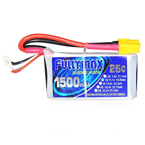Elemarket 1500mAh 11.1v (3s) 25C Batteria Lipo | ELEMARKET