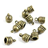 930 Pieces Jewelry Making Charms Findings Beading Craft Antique Bronze C4LS7B Tassel Head Leather Cord End Cap