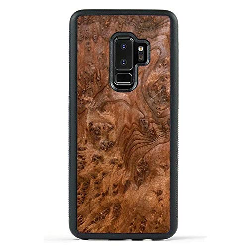 Carved | Samsung Galaxy S9 Plus | Luxury Protective Traveler Case | Unique Real Wooden Phone Cover | Rubber Bumper | Redwood Burl