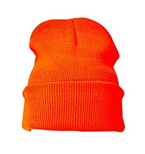 Gorro Naranja Liso (Orange Beanie Hat)