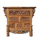 "NES Furniture Nes Fine Handcrafted Furniture Solid Teak Wood Lily Sideboard Buffet / Dresser - 36"", Natural"