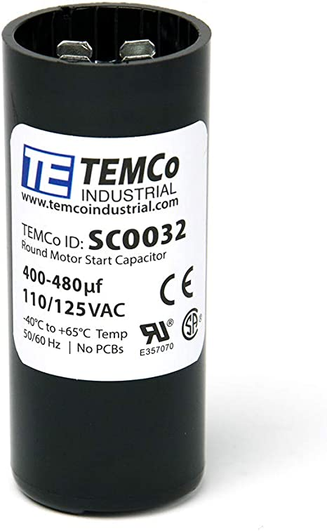 BMI 092A400B115BD4A Start Capacitor 400-480 uF 115 VAC 50//60 Hz