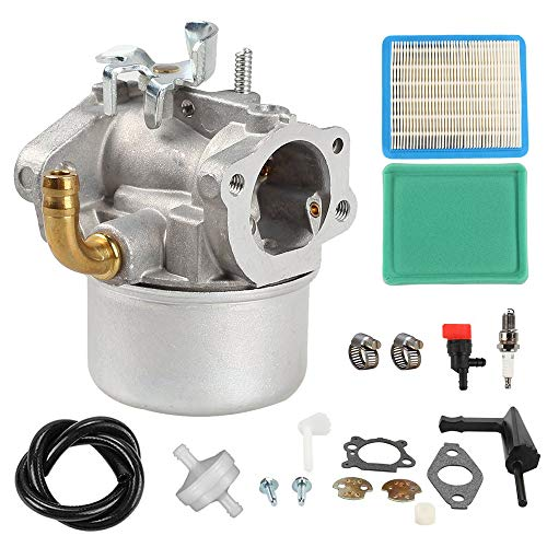 798653 Carburetor 491588S 491588 Air Filter Spark Plug Kit replaces for Briggs and Stratton 698860 791077 790290 693865 697354 698474 791991 Carb