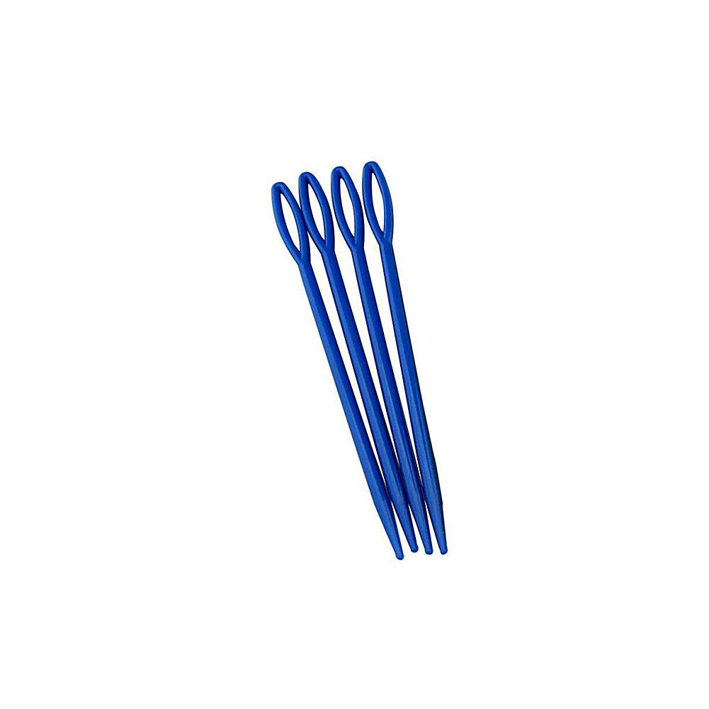 Domccy Large Eye Blunt Needles Multi Function Plastic Handmade Wool Sewing Needles Portable Yarn Thread Knitting Sewing Needle Home Accessory 16pcs