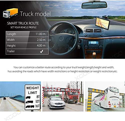 9inch Truck GPS Big Touchscreen Trucking GPS Bluetooth AV-in Xgody GPS Navigation for car Navigation 8GB ROM SAT NAV System Navigator Driving Alarm Lifetime Map Updates by XGODY (Image #9)