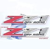 z71 tahoe emblem - Yoaoo®2x OEM 10 Inch Big Chrome Z71 OFF Road Emblems for GMC Chevy Silverado Sierra Suburban 2500hd Red