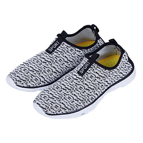 Shoes Dry Sport for Barefoot Holes KEALUX Water amp;white Bottom Water Lightweight Men with Black Quick Water Activities Drainage Sneaker Women Shoes Walking on wwOTfZ