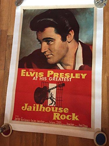 Original 1957 Elvis Presley Jailhouse Rock Poster One Sheet Linen Back