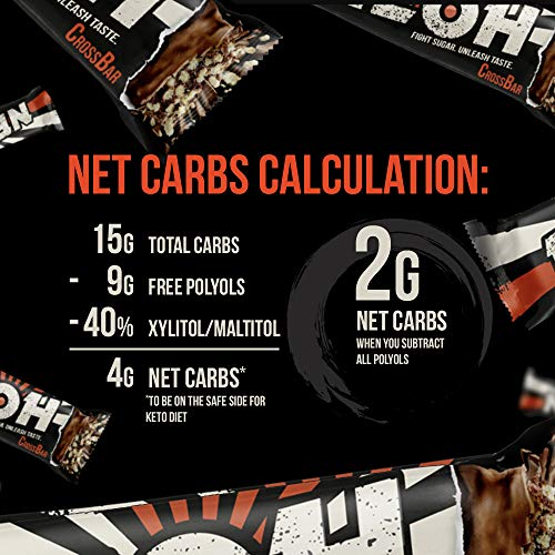 NEOH Low Carb Protein/Candy Bar - Keto, Low Sugar (1g) - Chocolate Crunch (2 Packs of 12) by NEOH (Image #2)