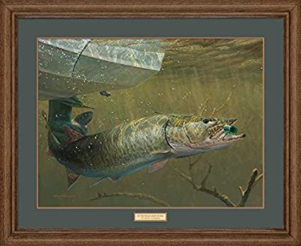 On the Figure Eight Muskie Framed Limited Edition Print by Mark A Susinno