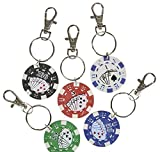 1.5'' POKER CHIP KEYCHAIN, Case of 240