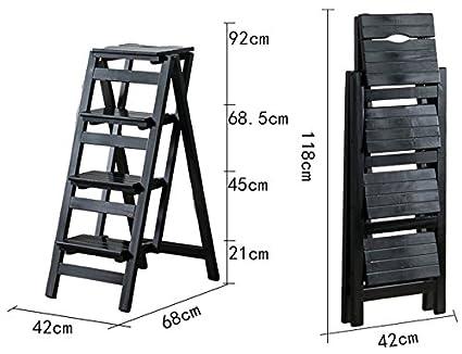 Scaletta In Legno Pieghevole : Th gradini scalette sgabello scala a 4 strati scaletta di legno