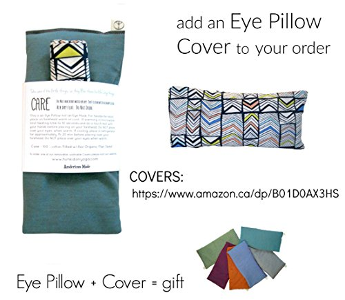 Scented Eye Pillows - Pack of (4) - Soft Cotton 4 x 8.5 - Organic Lavender Flax Seed - hand block print India - pink purple gray teal green elephant by Peacegoods (Image #7)