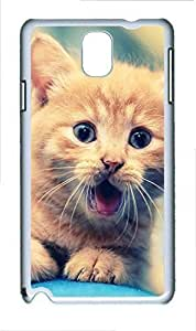 Samsung Note 3 Case Animal Cat Cute PC Custom Samsung Note 3 Case Cover White doudou's case