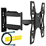 Invision TV Wall Mount Bracket with Tilt and Swivel 20 Inch Articulating Arm/Ultra Slim 1.8-Inch Wall Profile for Most 26 – 55 Inch LED/LCD/Plasma/4K/3D & Curved Screens (A2/HDTV-L)
