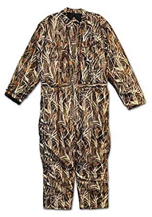 Big Mens Waterfowl Camo Waterproof Breathable Insulated Coverall (CAMOFLAUGE M)