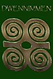 DWENNIMMEN: Ram's Horns Gold Adinkra Green Softcover Note Book Diary | Lined Writing Journal Notebook | 100 Cream Pages | Ghanaian Asante Humility & Strength | Ghana Africa African Symbols