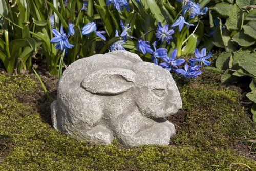 Campania International A-324-GS Fry Bunny Statue, Small, Grey Stone - Animal Campania Cast Stone